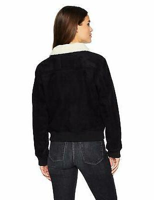 571db98147c Levi's Women's Faux Leather Sherpa Aviator Bomber Jacket