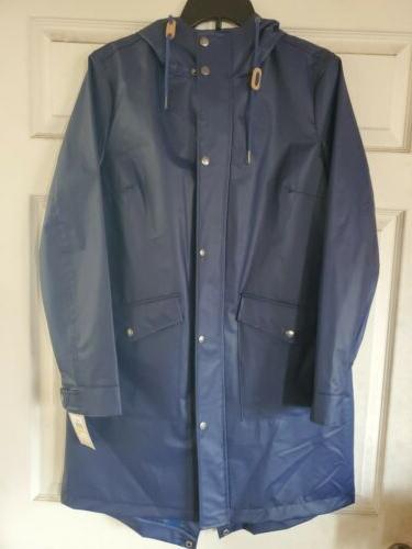 levi strauss womens long sleeve rain coat