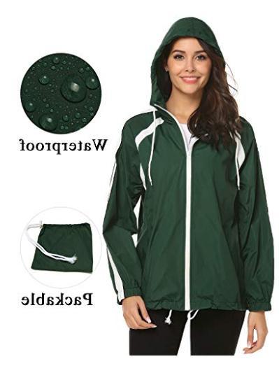 lightweight jackets windbreaker packable outdoor hooded zhen