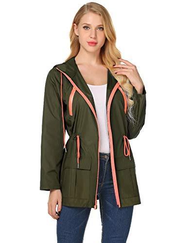lightweight waterproof hiking raincoat for women windbreaker