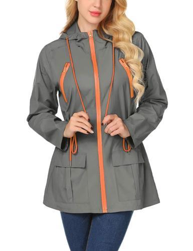 LOMON Waterproof Raincoat for Women Windbreaker Packable Outdoor