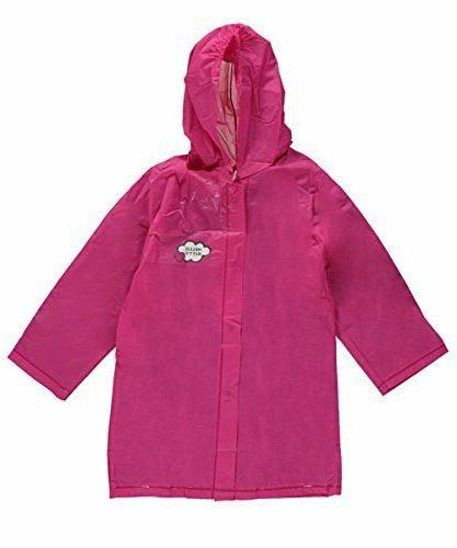 Hello Pink Hooded Rain Jacket Youth Toddler