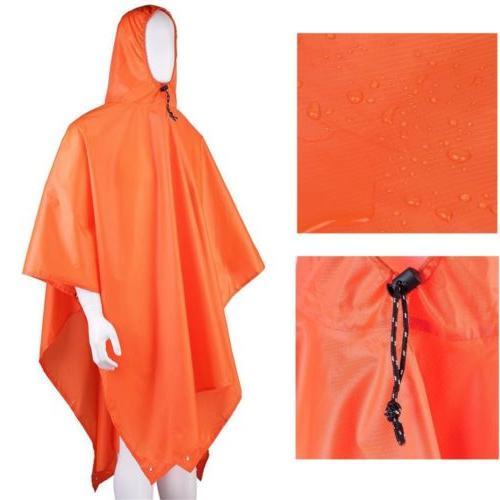 Long Rain Coat Outdoor Waterproof Cover Hiking MA