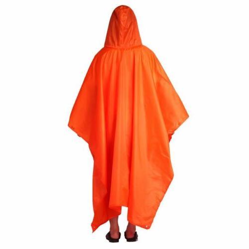 Long Coat Waterproof Rain Poncho Cover 3IN1 MA