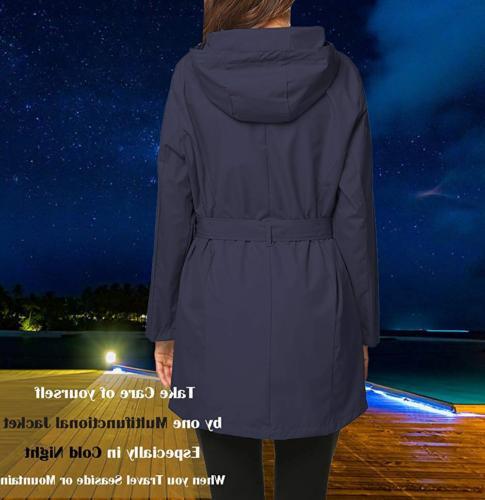 ZHENWEI Long Women Rain Coats Junior Girl