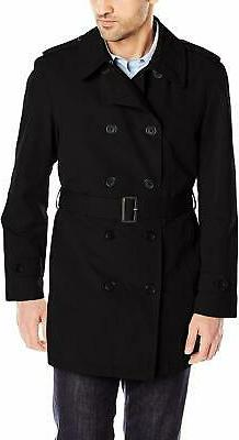 Stacy Adams Men's Big-Tall Strike Double Breasted Raincoat -
