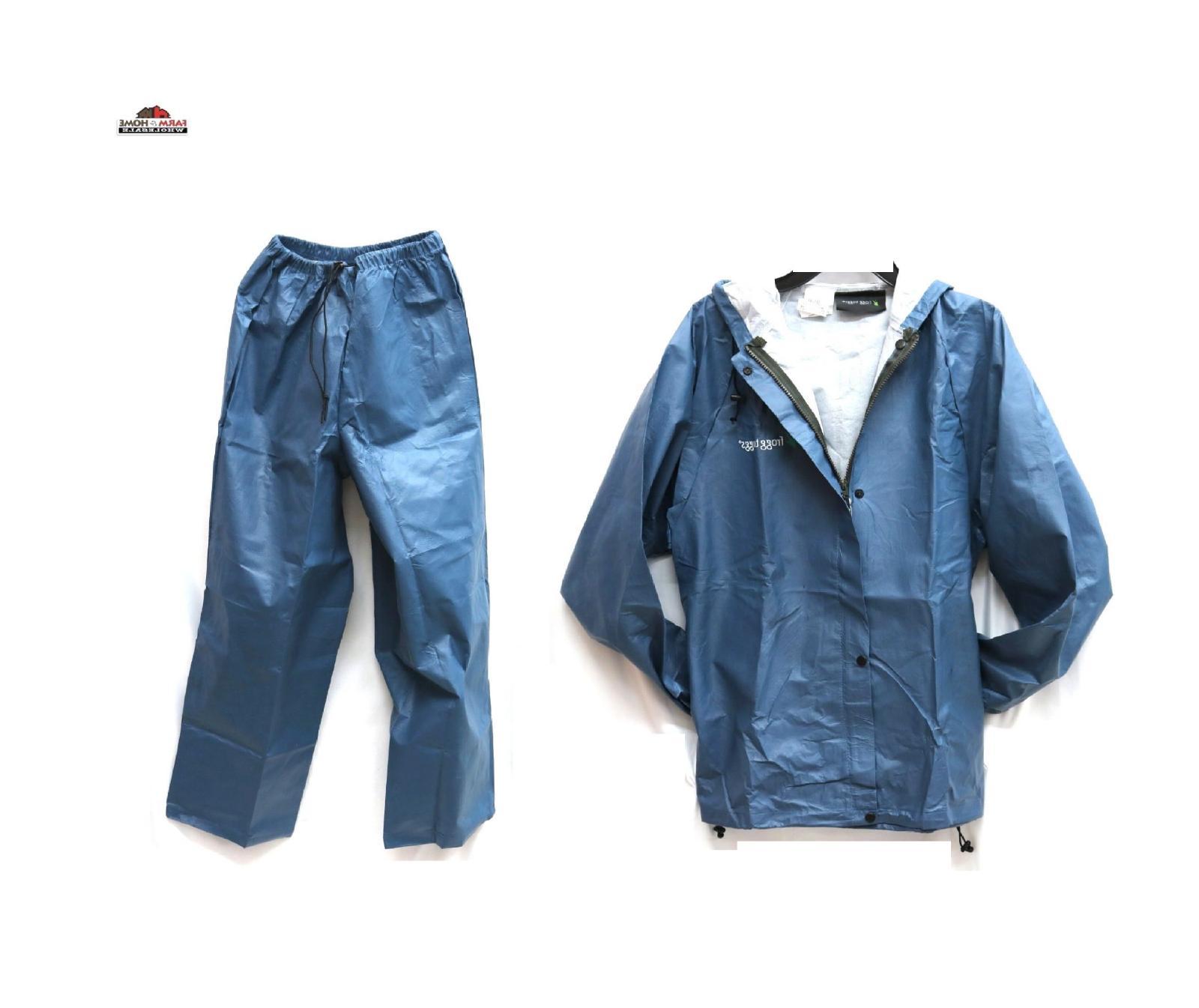 men s blue pro lite rain suit