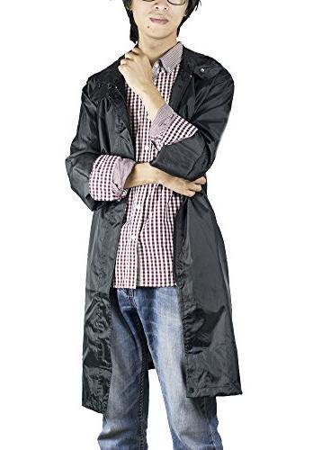 QZUnique Waterproof Zipper Jacket Poncho Raincoat Hood