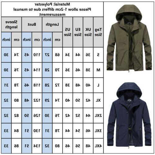 Men's Windproof Waterproof Combat Jacket Outdoor Rain Coat