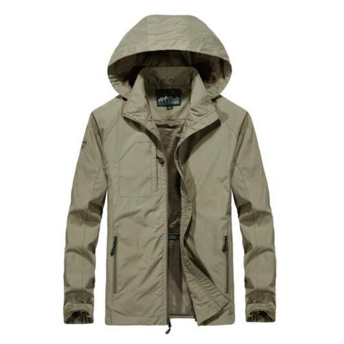 Mens Windproof Outdoor Mac Coat