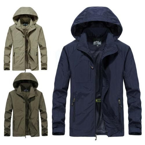 Men's Waterproof Jacket Hooded Rain Outwear
