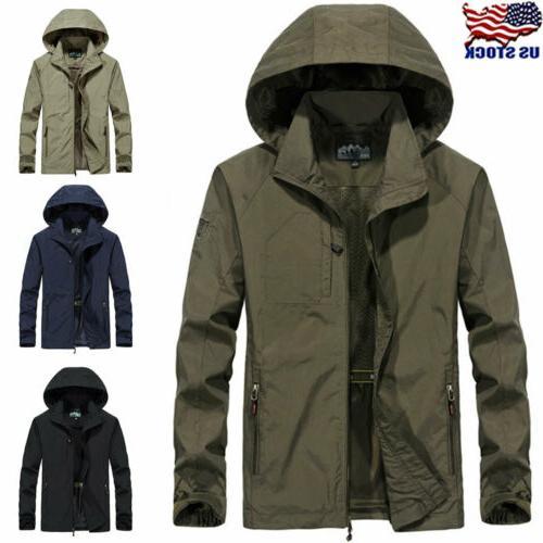 men s windproof waterproof combat jacket outdoor