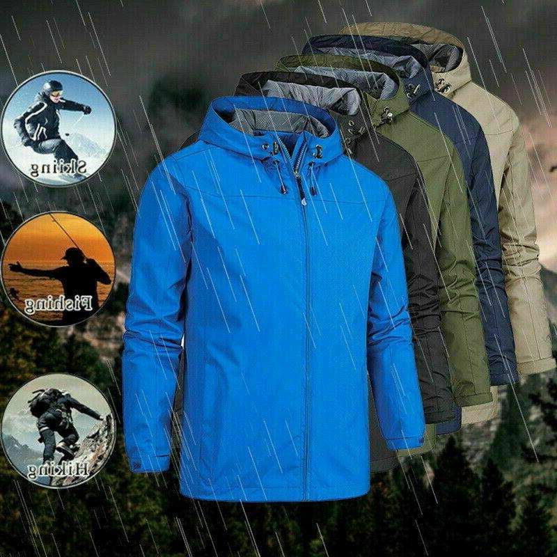 Men Winter Coat Outdoor Hiking Work Windproof Hooded Jacket