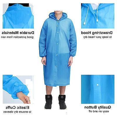 Men Women Clear Raincoat Rain Waterproof Jacket