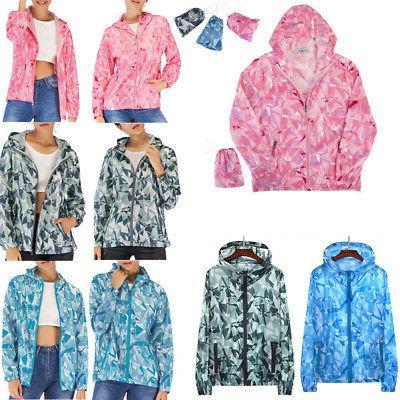 men women ladies foldable windproof jacket outdoor