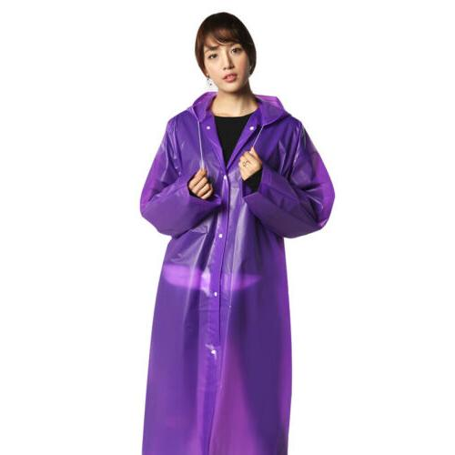 Men Women Raincoat Fashion Waterproof Long Rain Outdoor US