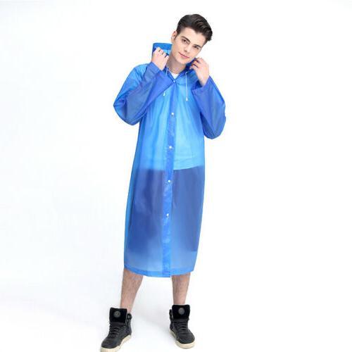 Men Raincoat Fashion Waterproof Long Rain Outdoor Hooded