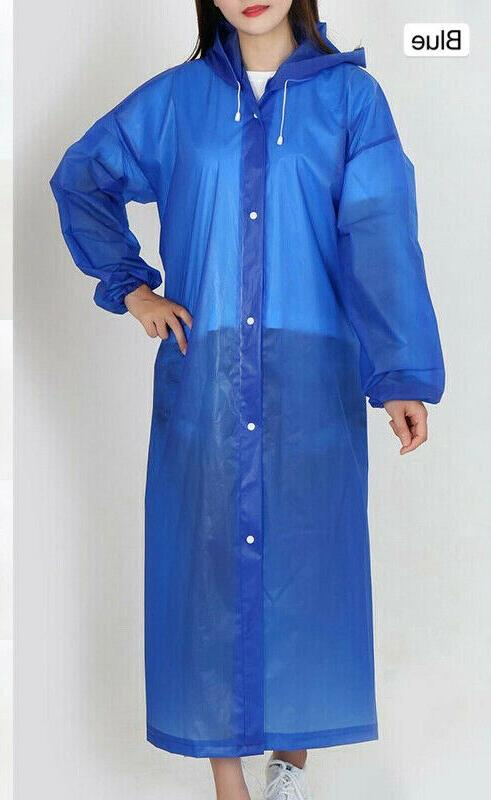 Men Raincoat Rain Coat Gown Hooded