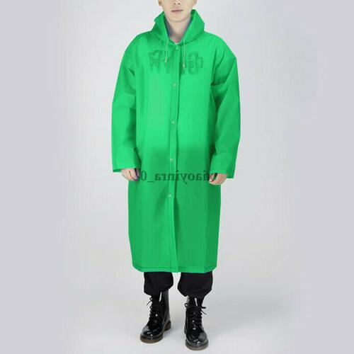 Men EVA Button Hooded Rain Coat