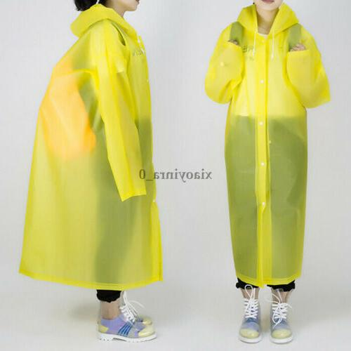 Men EVA Button Raincoat Rain Coat Rainwear