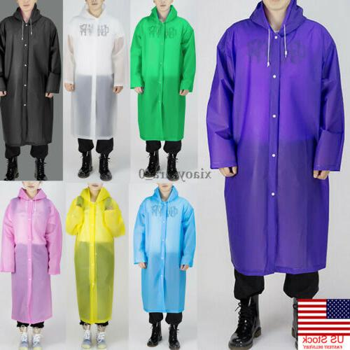 men women waterproof jacket eva button hooded
