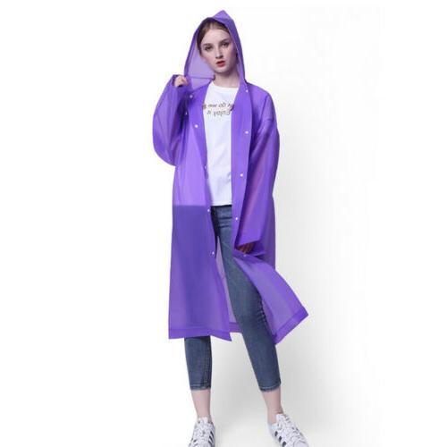 Men Women Jacket PE Hooded Coat Rainwear