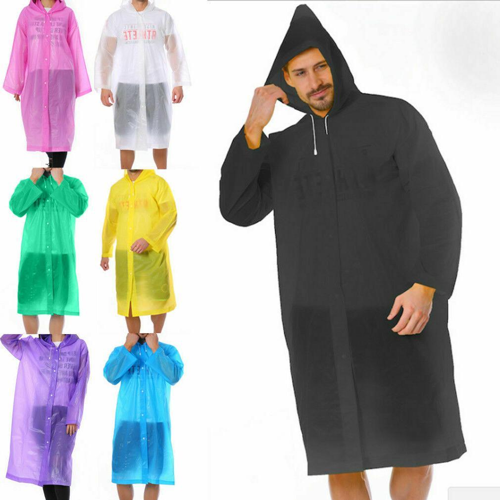men women waterproof jacket pe hooded raincoat