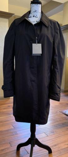Tom Ford Mens Coat Grey Tweed & Solid Black •Reversible TF