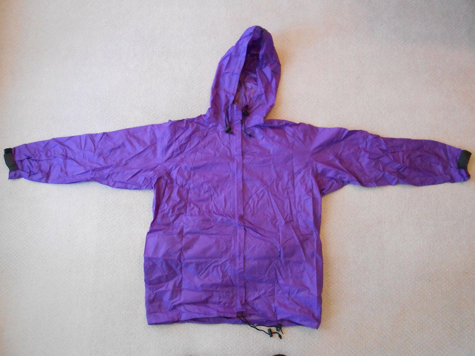 Mens Rain Coat Rainbelt Jacket w/Hood Waist Size -