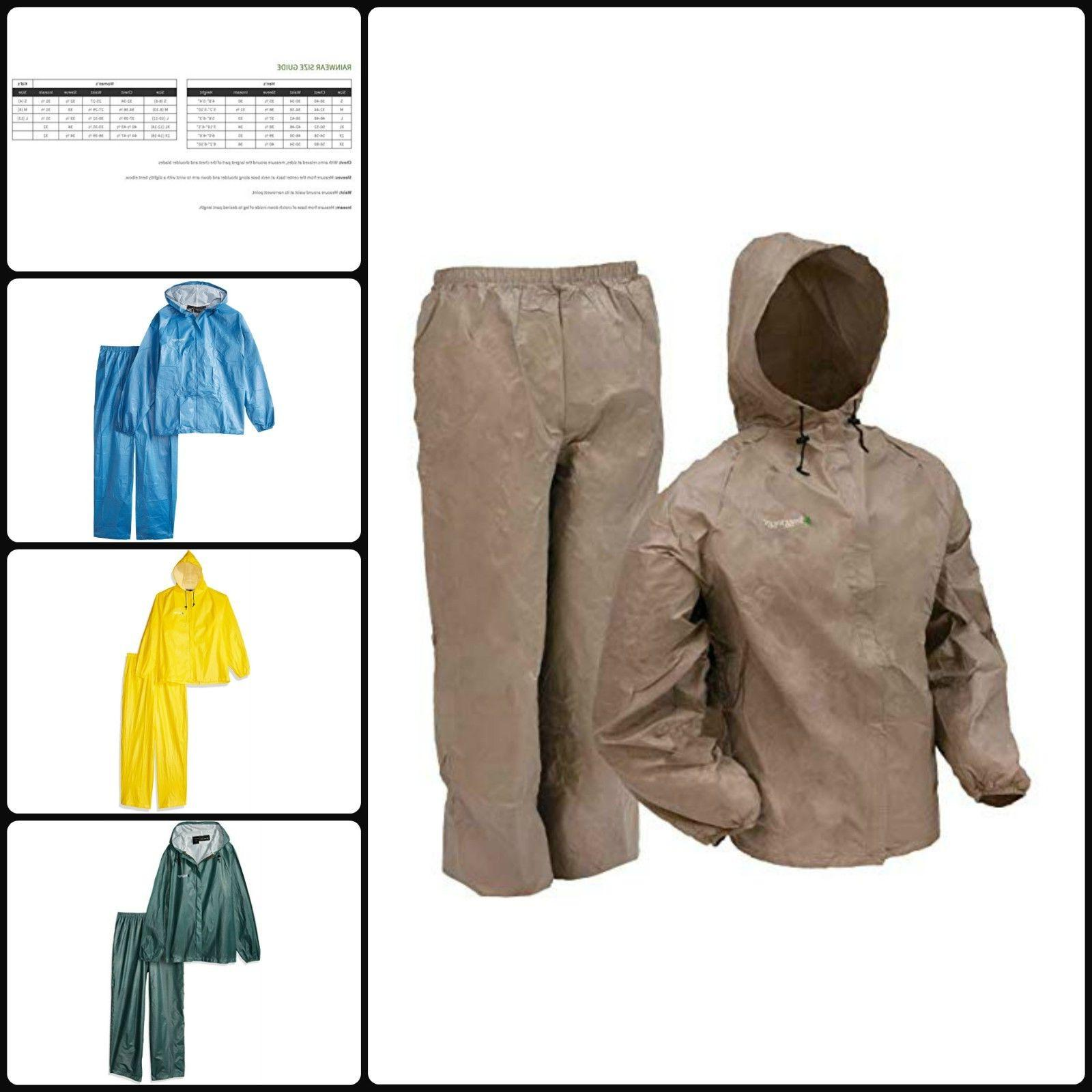 mens rain coat suit waterproof hooded breathable