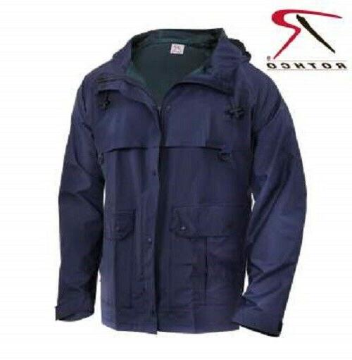 mens rain waterproof navy blue microlite pvc