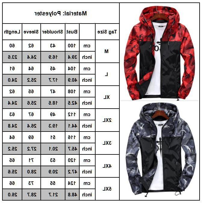 Mens Hiking Jacket Coat Sport Raincoat Hoodie