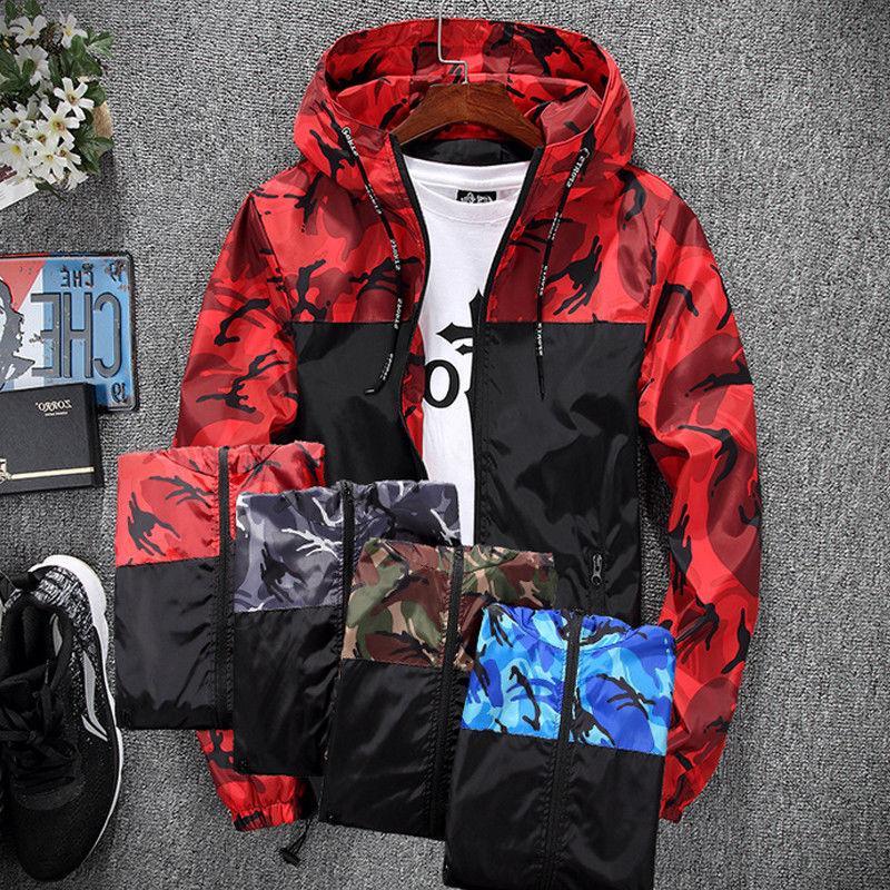 Mens Waterproof Jacket Coat Outdoor Sport Hoodie