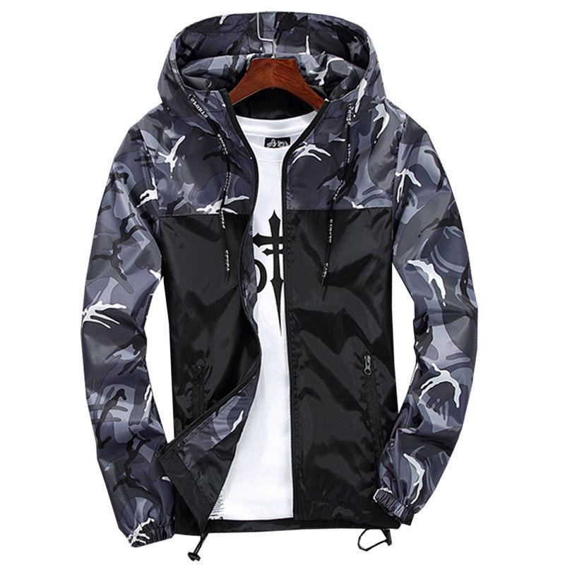 Mens Hiking Coat Winter Sport Raincoat Tops