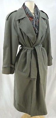 London Fog midi Trench Rain Coat Jacket zip out winter linin