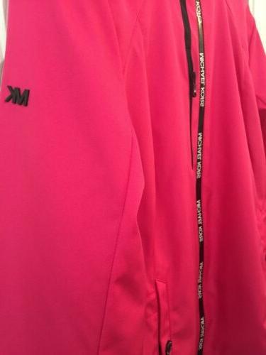 MICHAEL Rain Jacket Coat Pink Waterproof