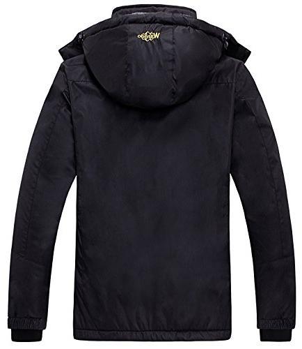 Wantdo Women's Fleece Ski Jacket Rain