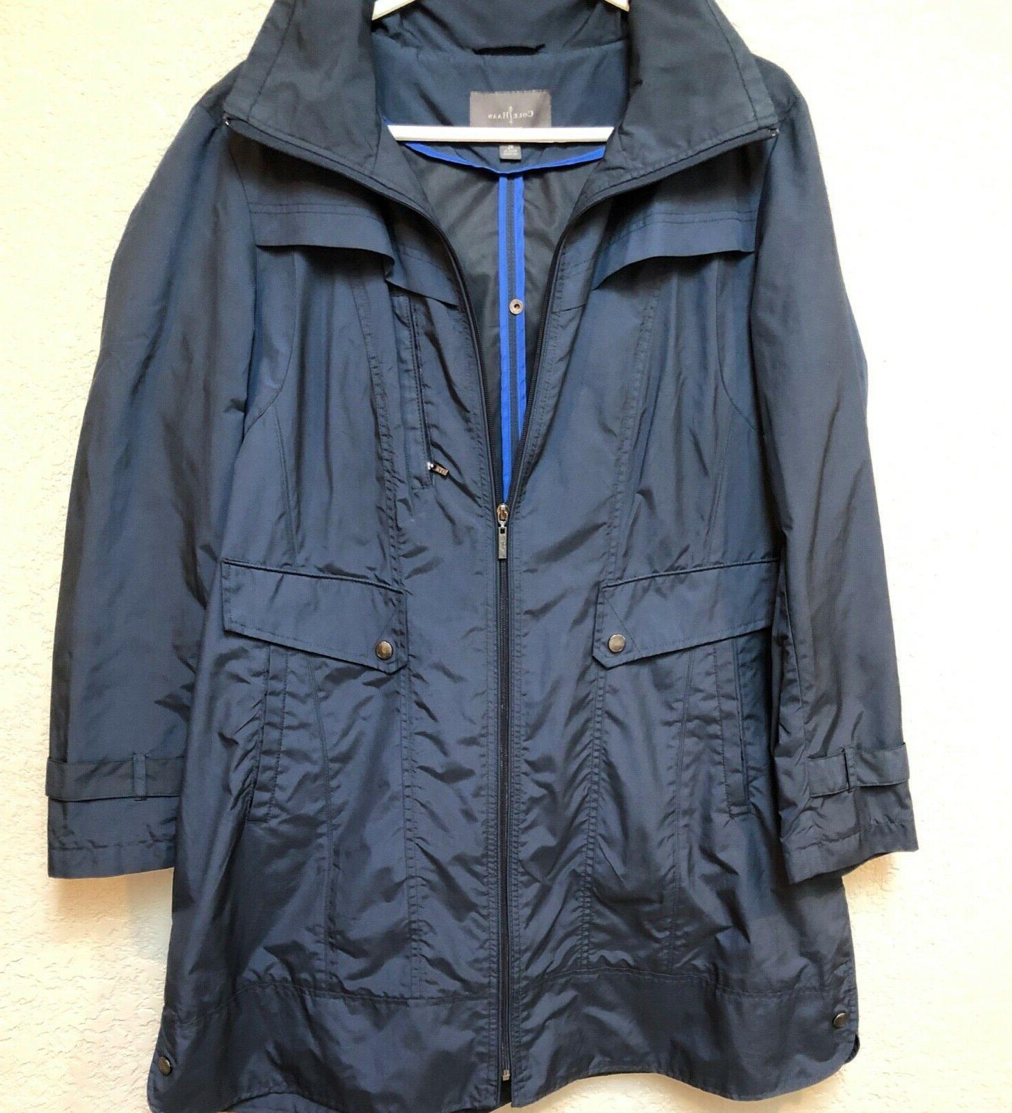 Cole Haan Navy raincoat. Knee Sz woman's XL