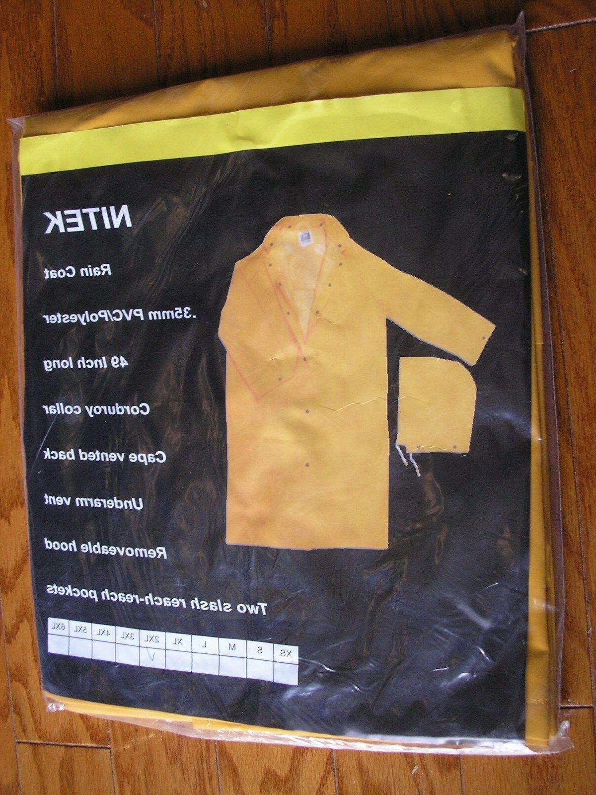 new Yellow PVC/Polyester Long Rain Coat Gear  Raincoat 35mm