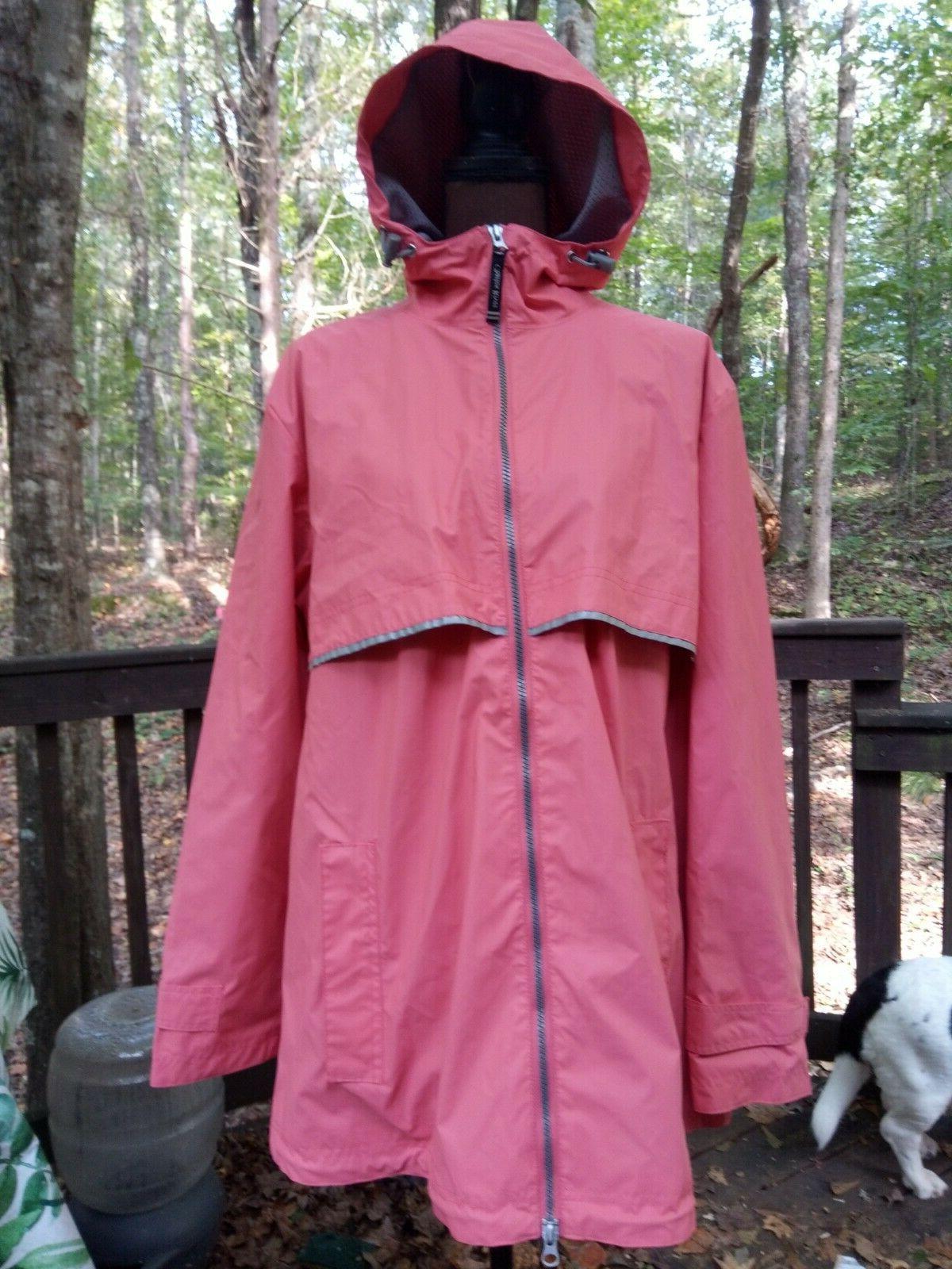 new englander rain coat jacket 2xl hood