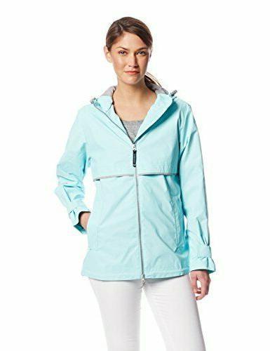 new englander waterproof rain jacket turquoise xl