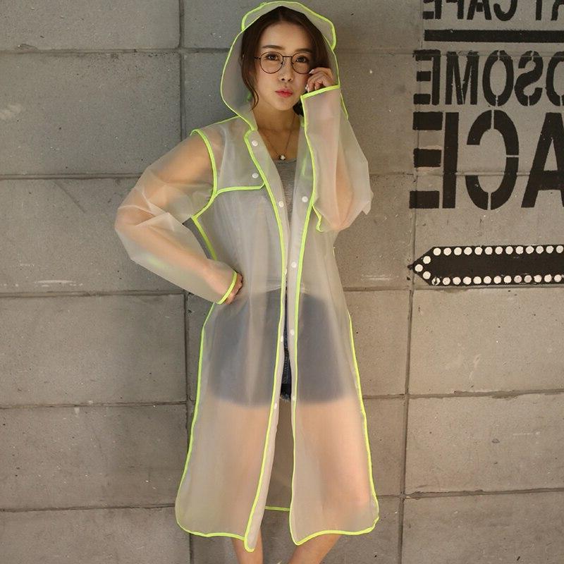 Geekinstyle Transparent Eva Raincoat Waterproof Adult Outdoor <font><b>Rain</b></font> <font><b>Coat</b></font>