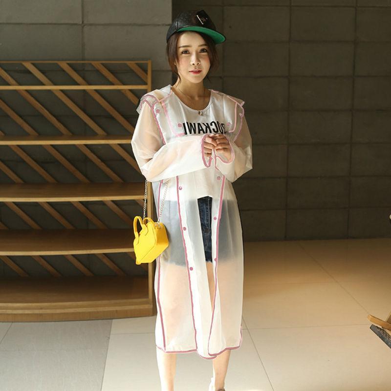 Transparent Eva Plastic Raincoat Rainwear Adult Poncho Outdoor <font><b>Rain</b></font> <font><b>Coat</b></font>