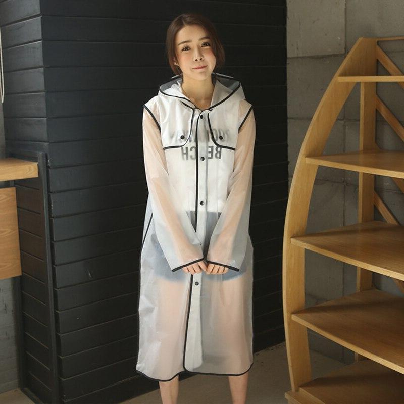 Geekinstyle New Transparent Eva <font><b>Girls</b></font> Raincoat Travel Waterproof Adult <font><b>Coat</b></font>