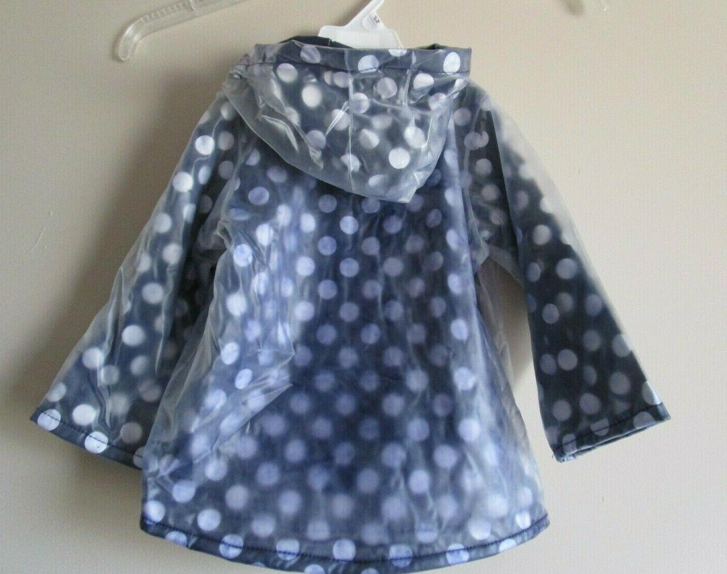 New Minnie Mouse Lined Raincoat Size 3T