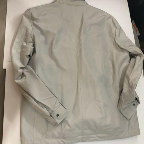 New COLE Beige Raincoat Hidden