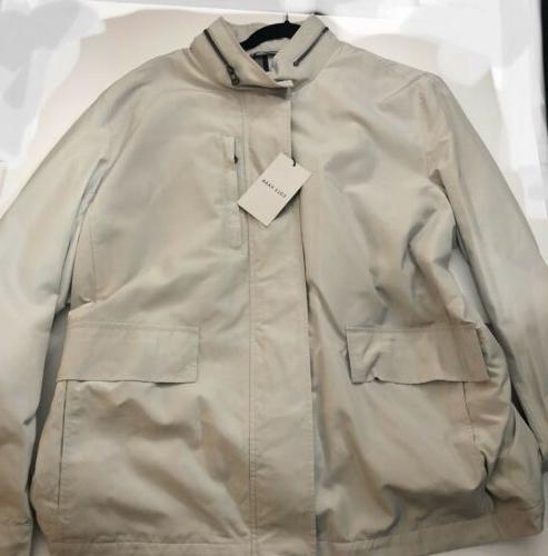 New Beige Raincoat with Hood Size