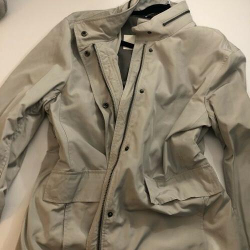 New Beige Raincoat Hood Size