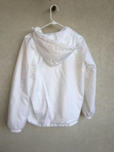 New Small White Monogrammed Charles Apparel Rain Jacket Lsk Ksl