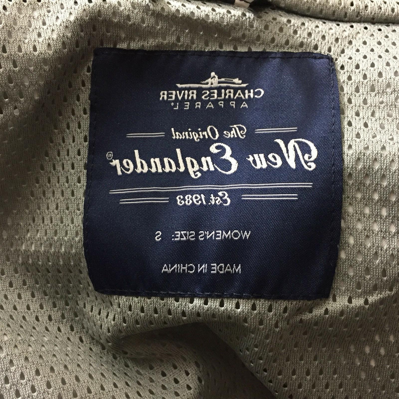New The Englander Navy White Stripe Coat Jacket